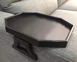 Sofa Arm Clip Table, Armrest Tray Table, Drinks/Remote Control/Snacks Holder (BLACK) …