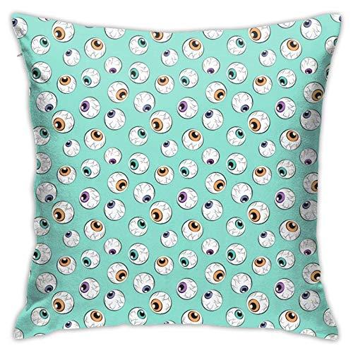 Crazy Eyes - Funda de almohada para Halloween, diseño de Oqua, decoración cuadrada, para sofá, cama, silla, coche, 45,7 x 45,7 cm