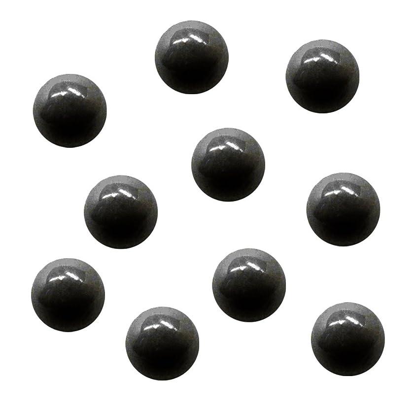 単調な病な切り離すサンシャインベビー ジェルネイル ジュエリーボール ブラック5mm 10P