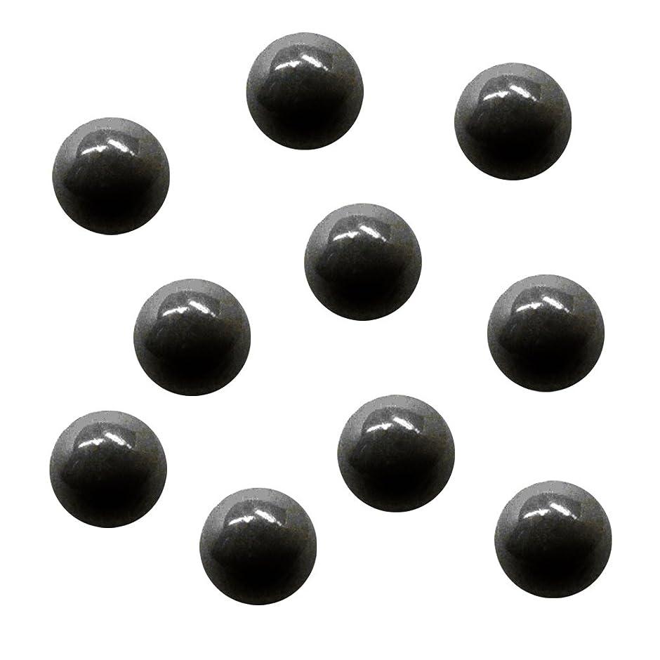配る強制的含むサンシャインベビー ジェルネイル ジュエリーボール ブラック5mm 10P