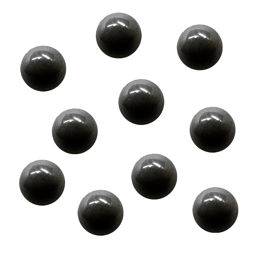 法医学並外れた浸漬サンシャインベビー ジェルネイル ジュエリーボール ブラック5mm 10P