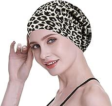 FocusCare Satin Lined Sleep Slouchy Cap Curly Girl Slap Headwear Gifts for Frizzy Hair Women