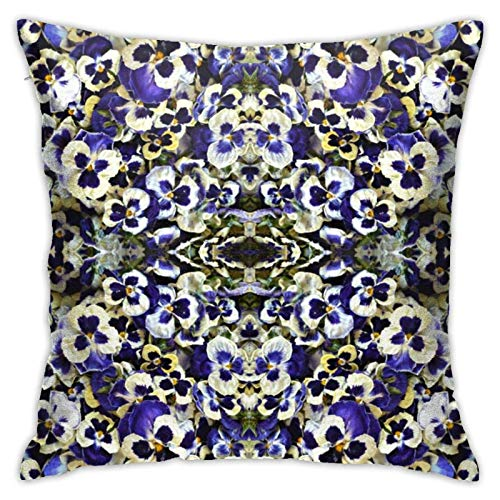 QUEMIN Funda de cojín con confeti de color morado para sofá o cama, 50,8 x 50,8 cm