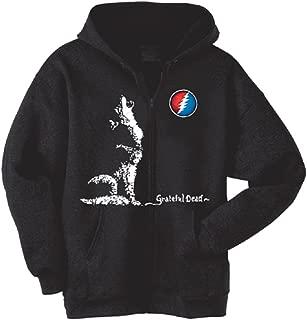 Grateful Dead Dire Wolf Hooded Zip Up Sweatshirt by Dye The Sky