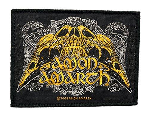 Amon Amarth Aufnäher - Raven Skull Patch - Gewebt & Lizenziert !!