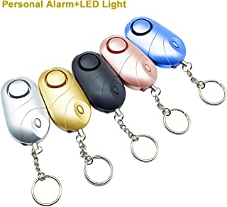 JIAN YA NA Personal Security Alarm Emergency Self-Defense Security Alarm Providing Powerful Safety and Property Assurance for Women/ Kids /Elderly /Girls /Explorer, Set of 5