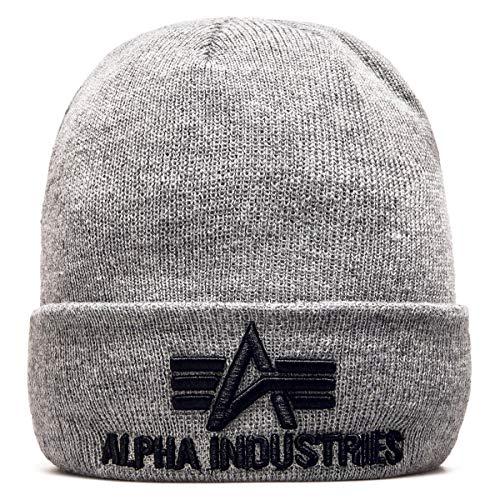 Alpha Industries Beanie 3D, Farbe:grey heather;Größe:one size