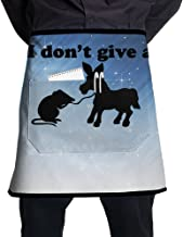 XiHuan Grill Aprons Kitchen Chef Bib I DON'T GIVE A RATS ASS OFFENSIVE Professional For BBQ Baking Cooking For Men Women Pockets