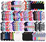 20 Pairs - Women's Socks - Ankle Cut, Low Cut, No Show, Footie, Casual Girls in 60 Colorful Patterns (Size 9-11)