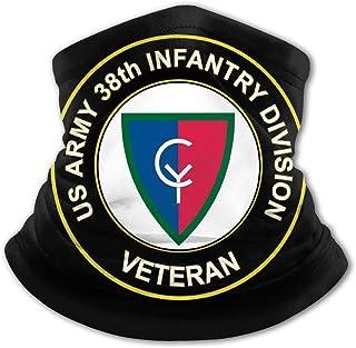 U S Army 38ª División de Infantería Logo Veterano Niños Protección UV Cuello Polainas Resistente al viento Multifuncion Di...