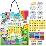 """JOYIN 15"""" X 12"""" Magnetic Learning Calendar with Weather Station, My First Daily Calendar, Preschool Learning Toys for Kids Toddler, Classroom Kindergarten School Decorations"""