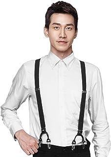 【2020最新型】サスペンダー メンズ Emoily 男性用 ダブルフック Y型サスペンダー 25mm 調節可能 カジュアル 正式な 結婚式 人気 プレゼント (12ヶ月の品質保証)