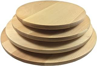 Plato giratorio Plato para pizza (4variantes giratorio Madera Plato Giratorio haya Queso Plato fabricado en la ue, ø 40cm