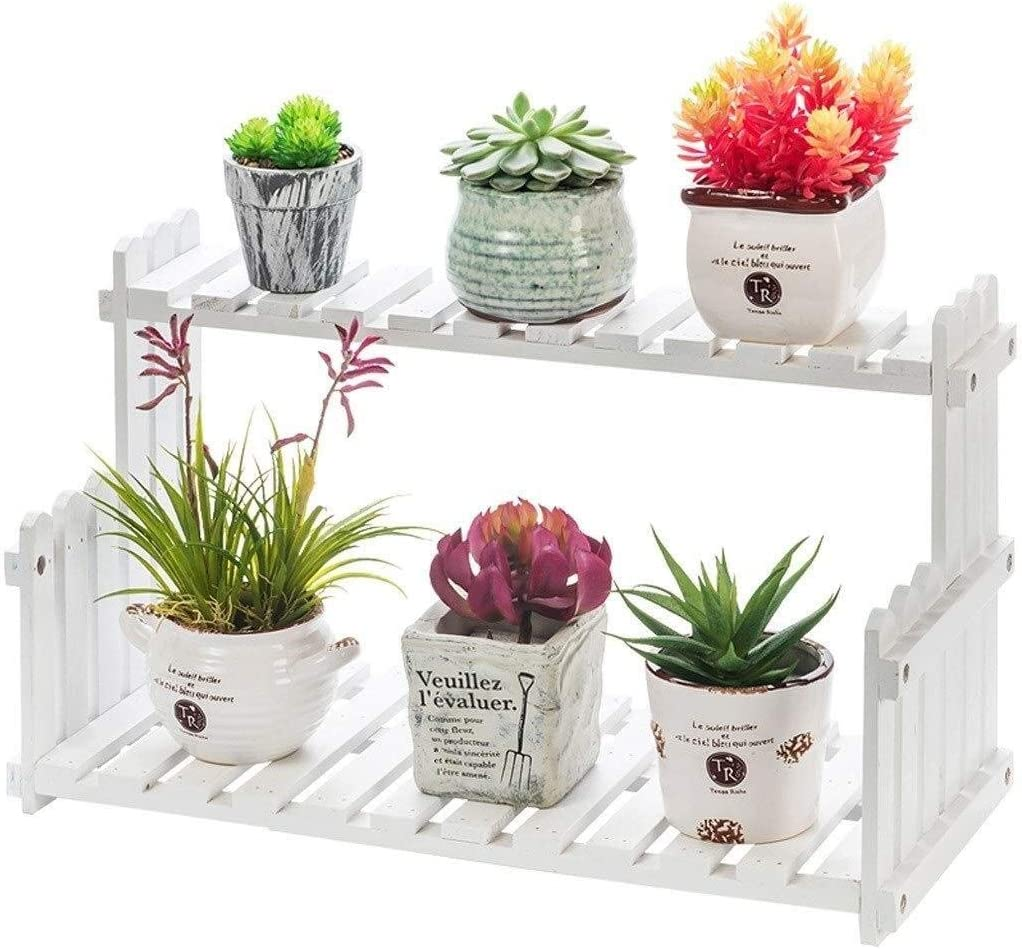 Zfusshop Flower Directly managed store rack At the price Frame B Plant Two-Story Wooden