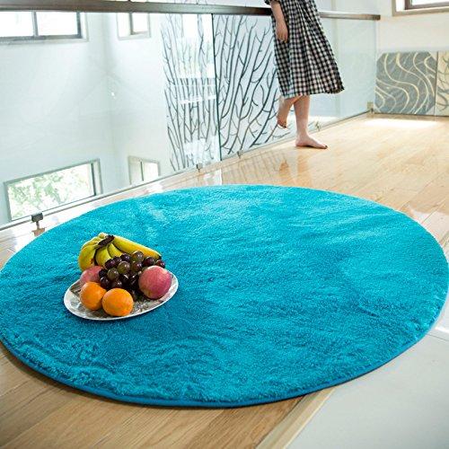 Superfine fibra di seta e lana tappeto stuoie sedia soggiorno camera da letto rotondo i tappeti tavolino può essere lavato
