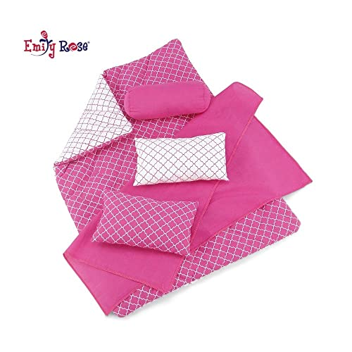 doll bedding for 18 inch american girl blanket pillow set soccer ball pink lace