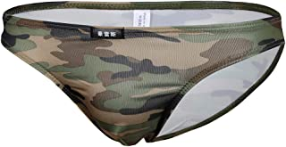 HOMYL Men's Underwear Camouflage Boxer Pouch Briefs Mesh Underpants Trunks Shorts