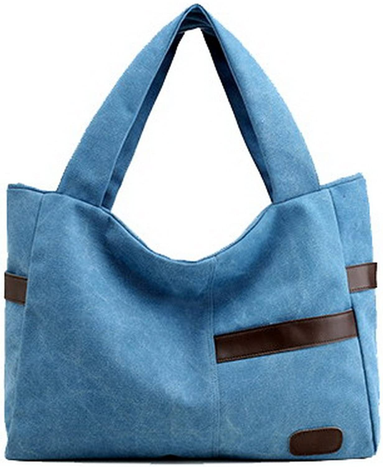 AmoonyFashion Women's Shoulder Bags Party ToteStyle Shopping Canvas Tote Bags, BUTBS181456
