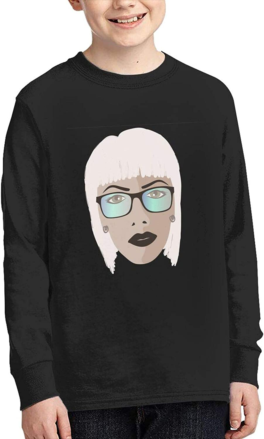 TZT Glamor Girl Wears Sunglasses Sweater Fashion and Comfortable Children's Sweater