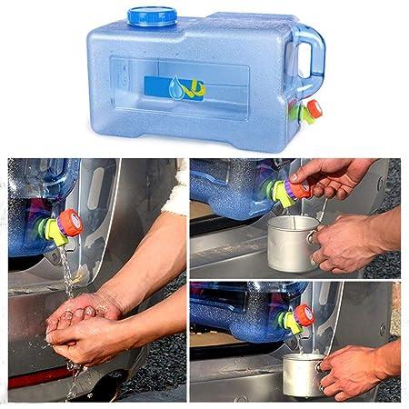 Nunubee Faltbarer Kanister Beh/älter Wassertank mit Hahn Wasser Eimer f/ür Camping Wandern Reisen Outdoor-Aktivit/äten 8L