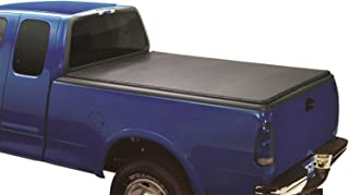 Lund 90051 Genesis Snap Truck Bed Tonneau Cover for 1999-2016 Ford F-250, F-350, F-450, F-550 | Fits 8' Bed,Black Leather Look