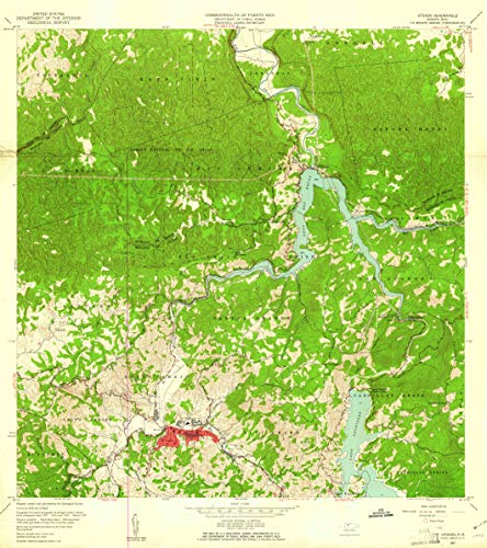 "Map Poster - Utuado, Puerto Rico (1957), 1:20000 Scale, 24""x21.5"", Gloss Finish"