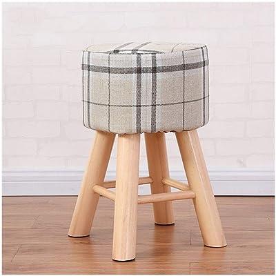 Magnificent Amazon Com Dl Furniture Round Ottoman Foot Stool 4 Leg Creativecarmelina Interior Chair Design Creativecarmelinacom