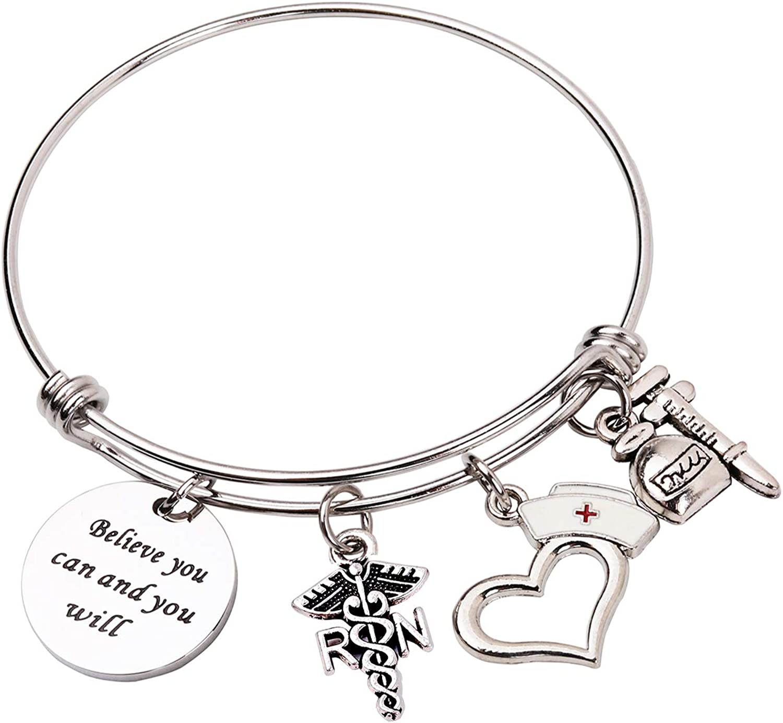 Personalized Nurse Key Chain, Bracelet, Stethoscope Key Chain Nursing Student Gift Nurse Appreciation Gift