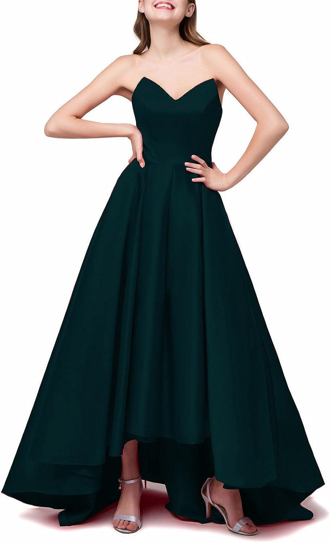 JINGDRESS V Neck High Low Evening Party Dresses