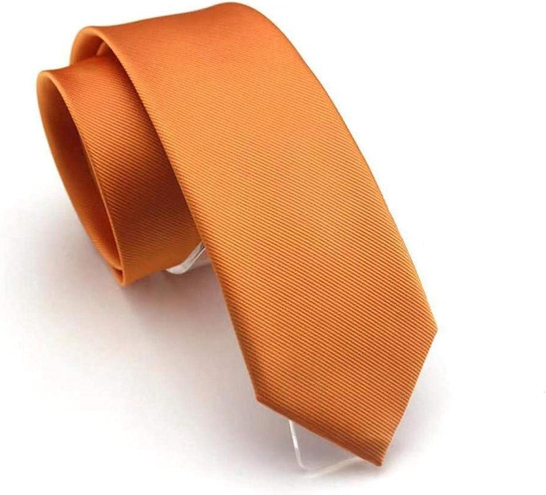 Xuzon 6cm Solid Slim Tie New Skinny Neck Fashion Green Black Yellow Necktie Free Style Men Plain