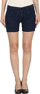 ROOLIUMS ® (Brand Factory Outlet Women's/Girls Basic Denim Short Blue-Medium