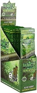Juicy Natural Pure Hemp Wraps (25 Packs/Full Box) (Natural)