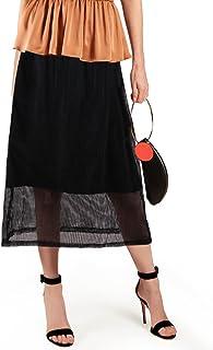 تنانير LUOTILIA للنساء الخريفي - تنورة متوسطة الحجم - تنانير على شكل حرف A للنساء