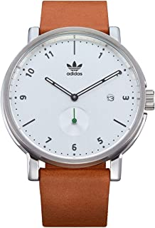 Adidas Watches District_LX2. Premium Horween Leather Strap, 20mm Width (40mm).