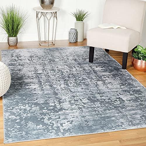 Superior Modern Abstract Power-Loomed Flatweave Indoor Area Rug, Gray, 7.6' x 9.6'
