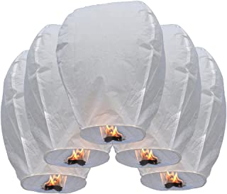 Olym Store(TM) 20 Pcs Chinese Sky Fly Fire Paper Lanterns Wish Balloon Wishing Lamp for Wedding Birthday Christmas Party White