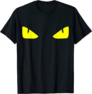 black shirt with yellow eyes