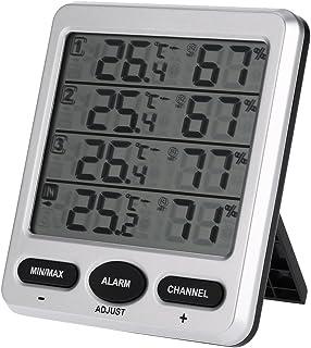 Sunbaca LCD 433 MHz sem fio 8 canais interno/externo termo-higrômetro com três sensores remotos Termômetro Higrômetro Funç...