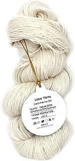 Lotus Yarns 416 Undyed 80% Merino 20% Cashmere Blended Handknitting Yarn (NAT White - Undyed 80/20MerinoCashmere)