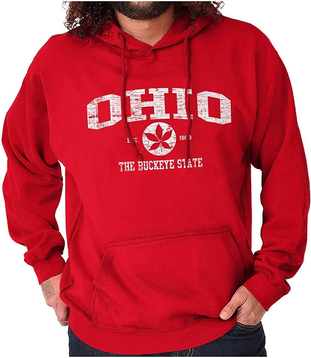 Ohio the Buckeye State Tree Leaf Hoodie Sweatshirt Women Men