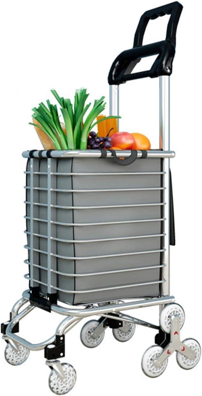HSLINU Foldable Aluminum Alloy Shopping Ligh Groceries Regular Ranking TOP15 dealer Carts for