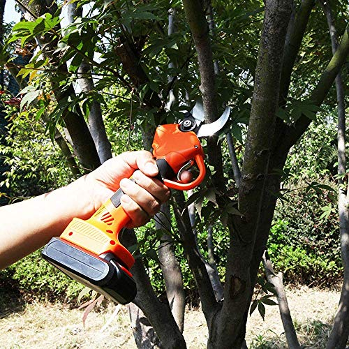 Big Save! Electric Pruning Shears,Tree Branch Pruner, Professional Electric Secateurs, Cutting Dia 30mm Pruning Cutter Tool 21V
