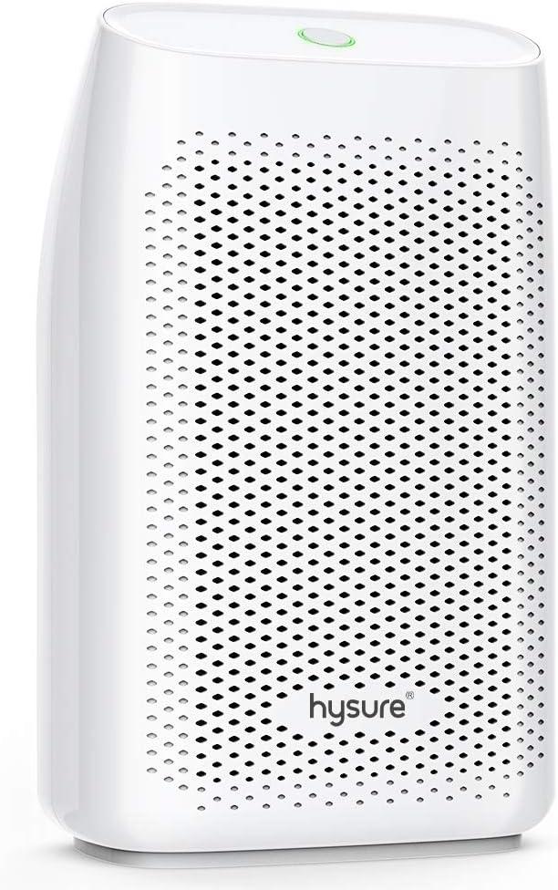 hysure Dehumidifier,700ml Compact Deshumidificador 1200 Cubic Feet(215 sq ft) Quiet Room Dehumidifier, Portable Dehumidifier Bathroom Dehumidifier for Dorm Room, Baby Room, Home