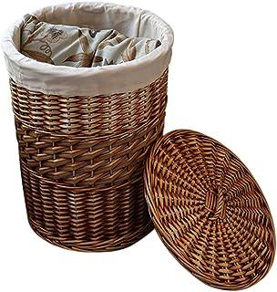 Panier de rangement Grands paniers de stockage en osier faits à la main, paniers à la maison décoratifs de corbeilles de s...
