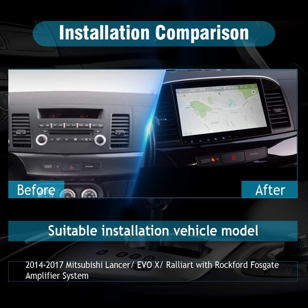SYGAV Android 10 Car Stereo for 2008-2017 Mitsubishi Lancer EVO X ...