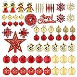 Aitsite 100PCS Palle di Natale 2CM/ 4CM/ 6CM Plastica Palle...