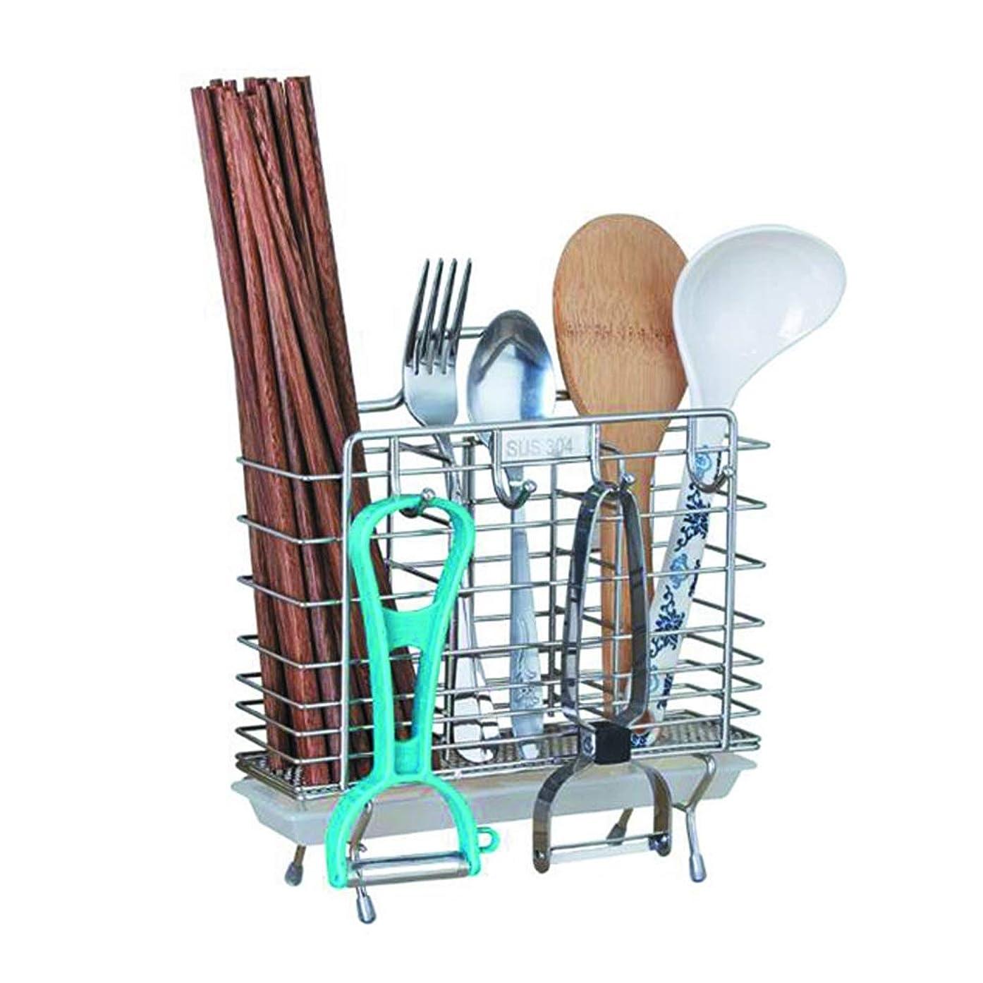カポック素子道に迷いましたYQQ-棚 箸ホルダーステンレス鋼キッチンカトラリーホルダー箸食器収納ラック防錆器具乾燥ラック