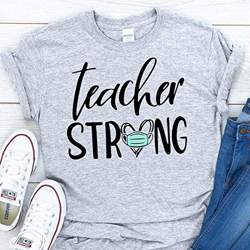 Teacher Strong Gift Quarantine Coronavirus Lockdown T-Shirt For Men Women Adults Shirt