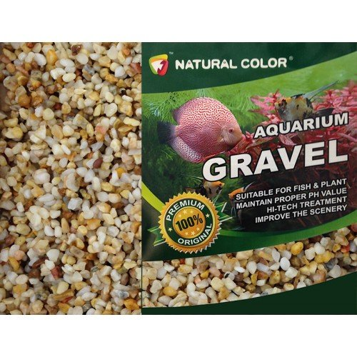 Natural Color Aquarium Fish Tank/Garden Pond Pea Shingle Gravel/Sand 3-5mm 5kg