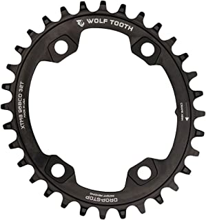 Wolf Tooth Components Elliptical Drop-Stop Chainring: 34T x 96 Shimano Asymmetric M9000